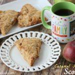 Caramel Apple Pie Scones