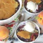 Farm Fresh Blueberry Peach Cobbler