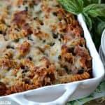 Grilled Chicken Parmesan Pasta Bake