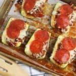 Stuffed Pizza Zucchini Boats