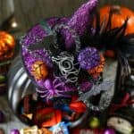 DIY Witch Pumpkin Candy Holder
