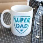 Cricut DIY Super Dad Father's Day Mug