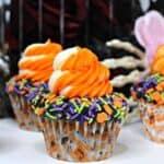 Halloween Sprinkle Cupcakes