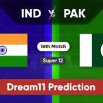 IND vs PAK Dream11 Team Prediction T20 World Cup 2021