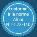 conforme Afnor N FT 72-110
