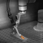 Tregaskiss BA1 Cobot Air-Cooled MIG Gun showing free drive switch for option B mounting arm
