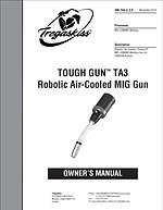Tregaskiss TOUGH GUN TA3 Robotic Air-Cooled MIG Gun Owner's Manual Cover - OLD