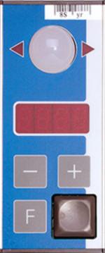 PTF-4N-3 senkrechtes Pick-by-Light Display mit 4-stelligen Anzeige und Tasten