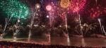 beach fireworks at Nice Carnival