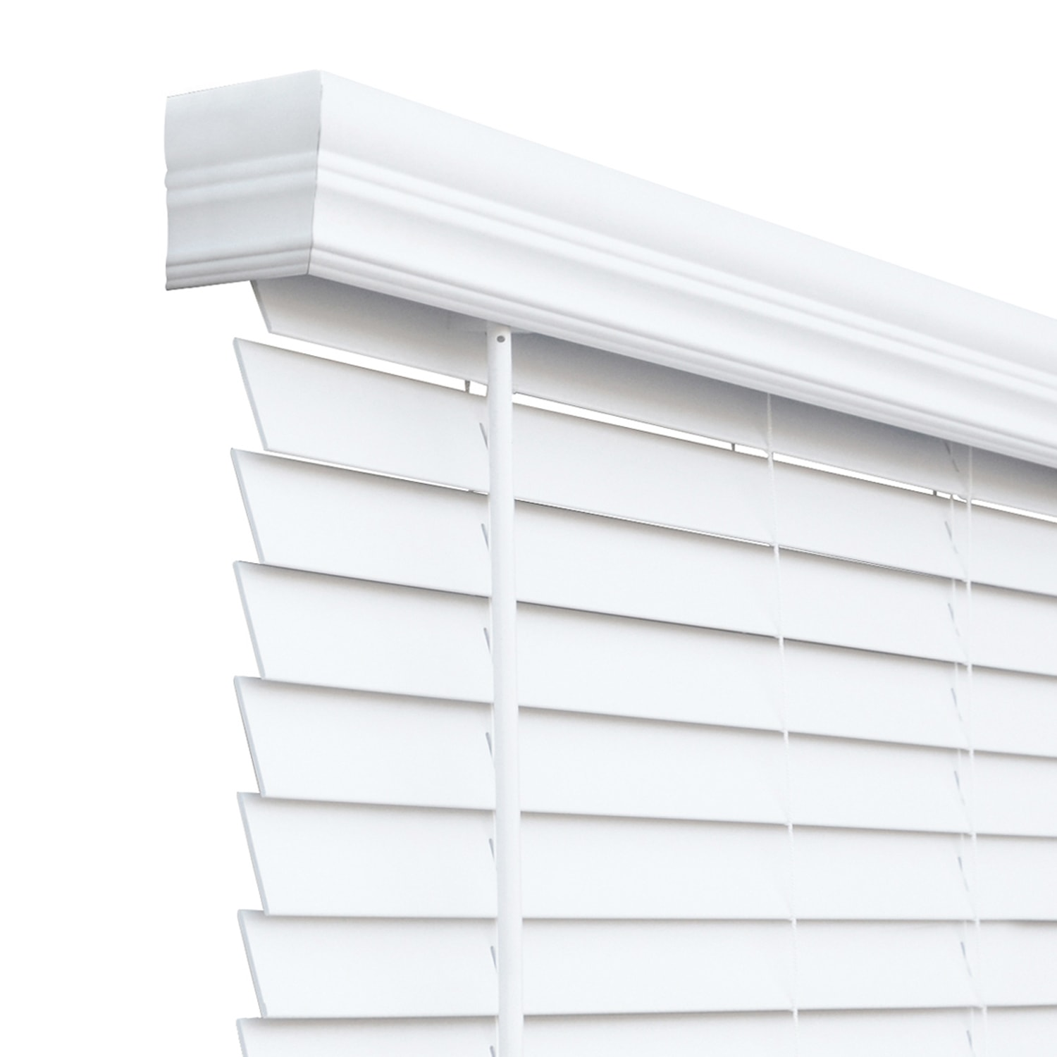 Faux wood blinds-white