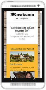Website aus Smartphone