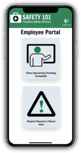Access the Safety 101 employee safety portal from a phone web browser to submit safety input