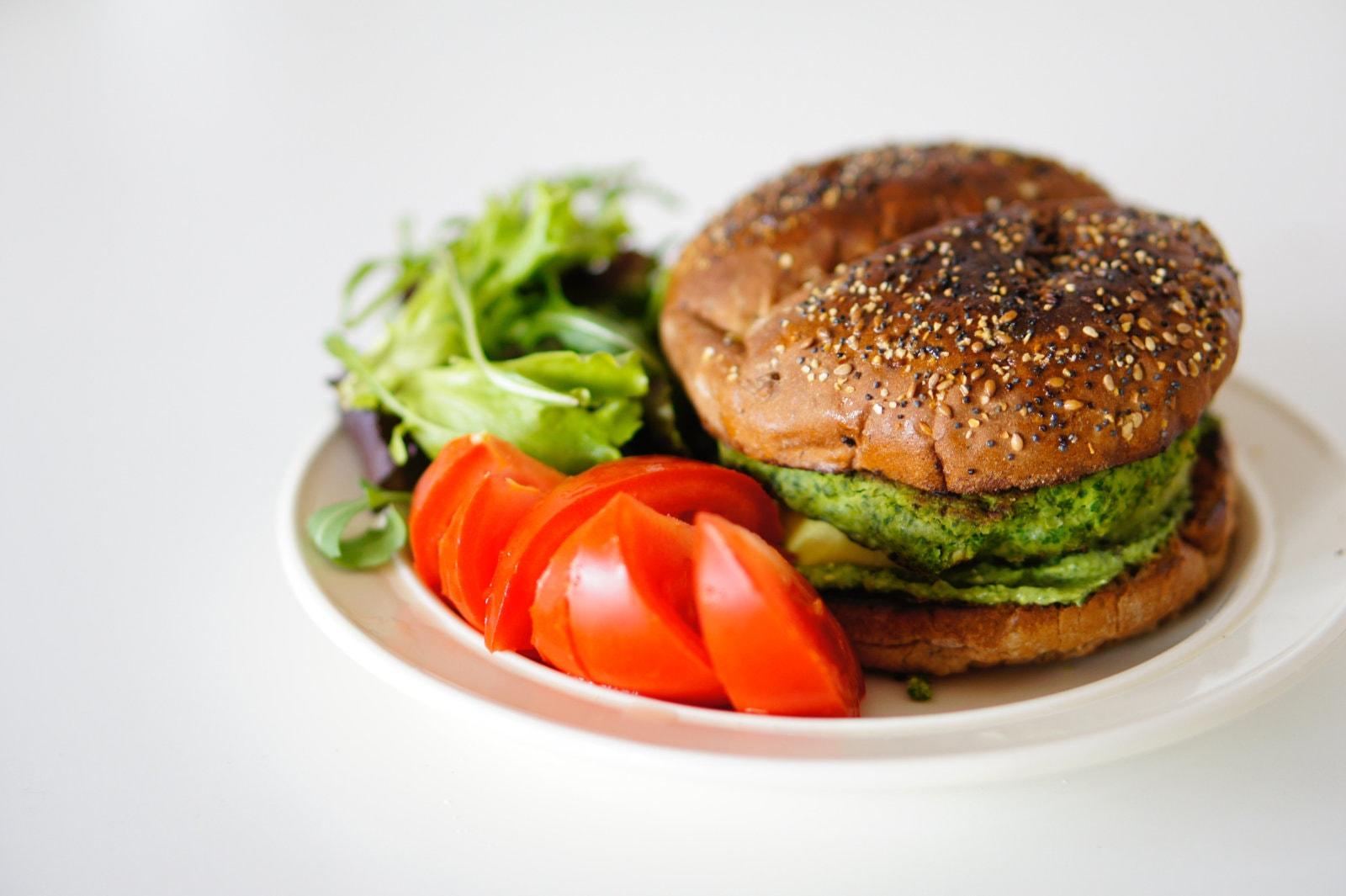 Vegan zucchini burger