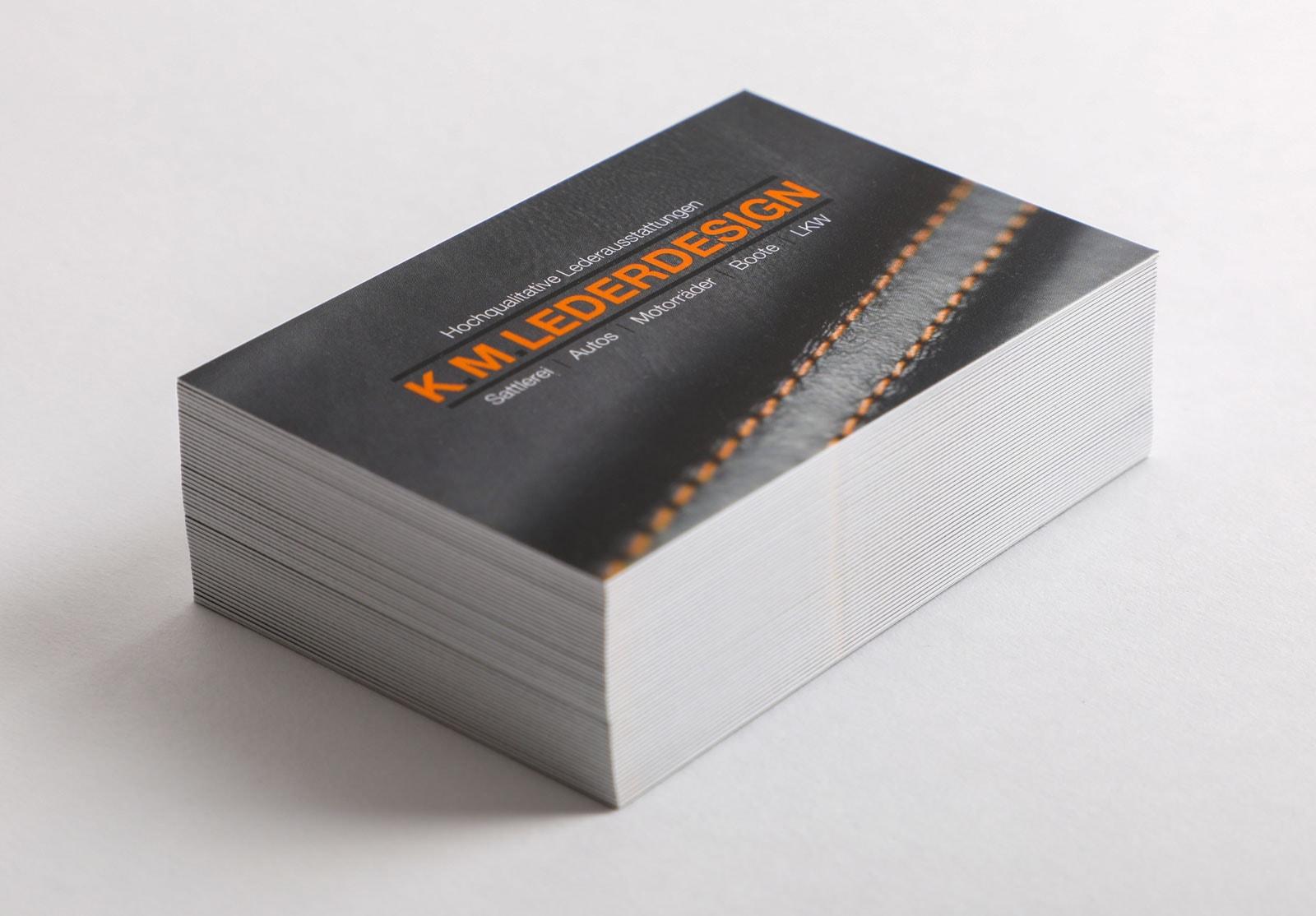 Print Design Paderborn • DESIGN 7 • Visitenkarten Stapel • Werbeagentur Paderborn