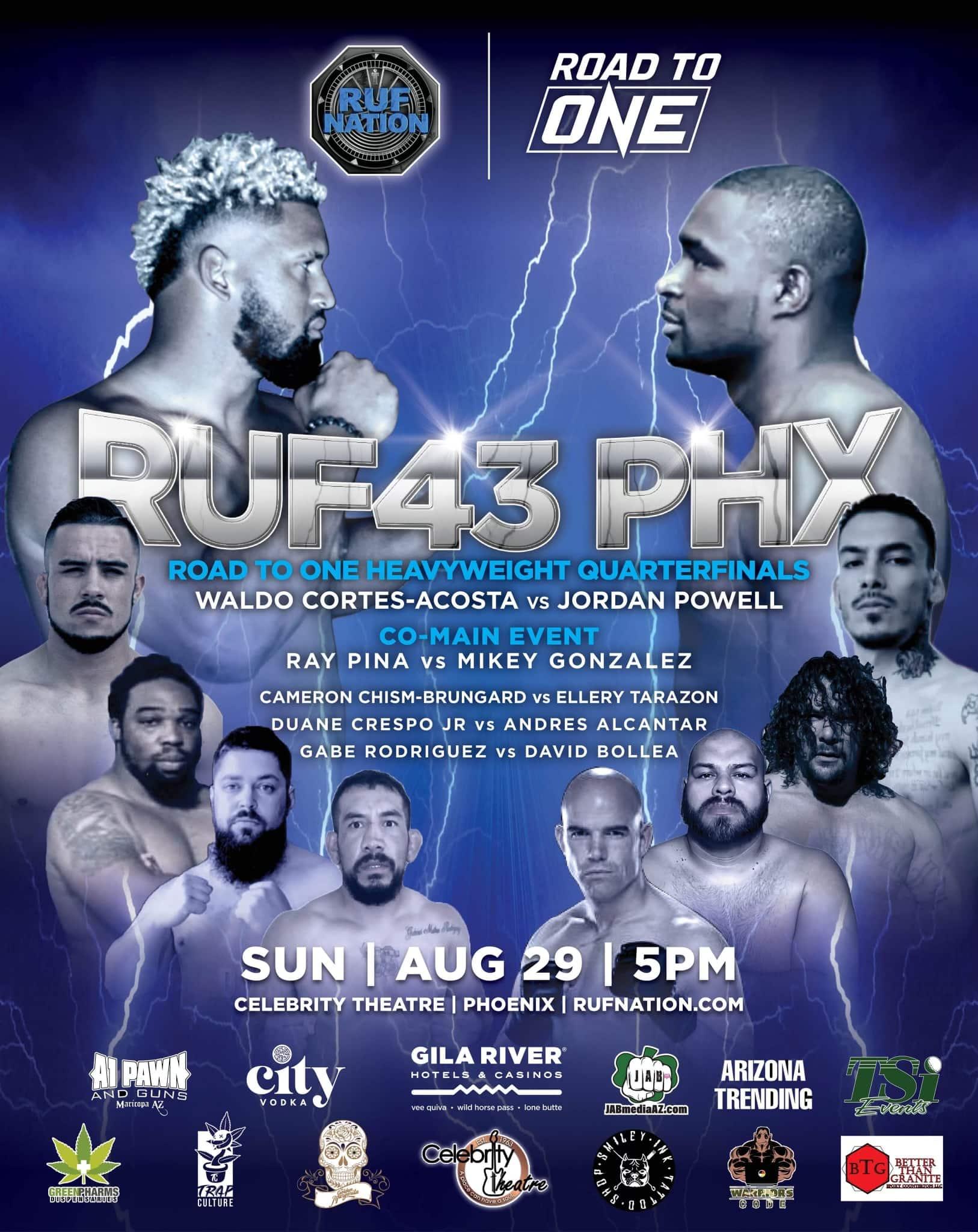 RUF43 PHX sun aug 29 - MMA Fight Coverage