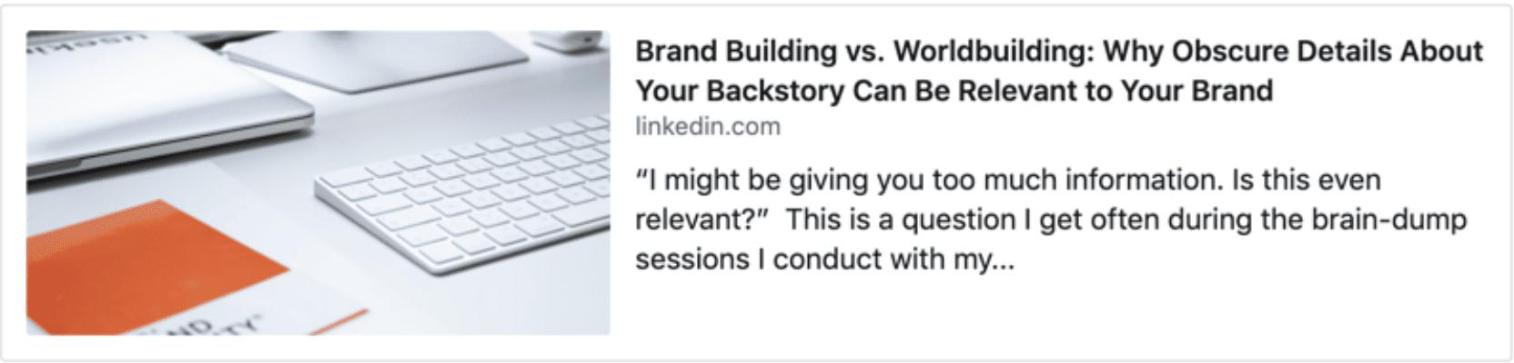 LinkedIn article image size
