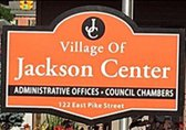 Jackson Center town sign
