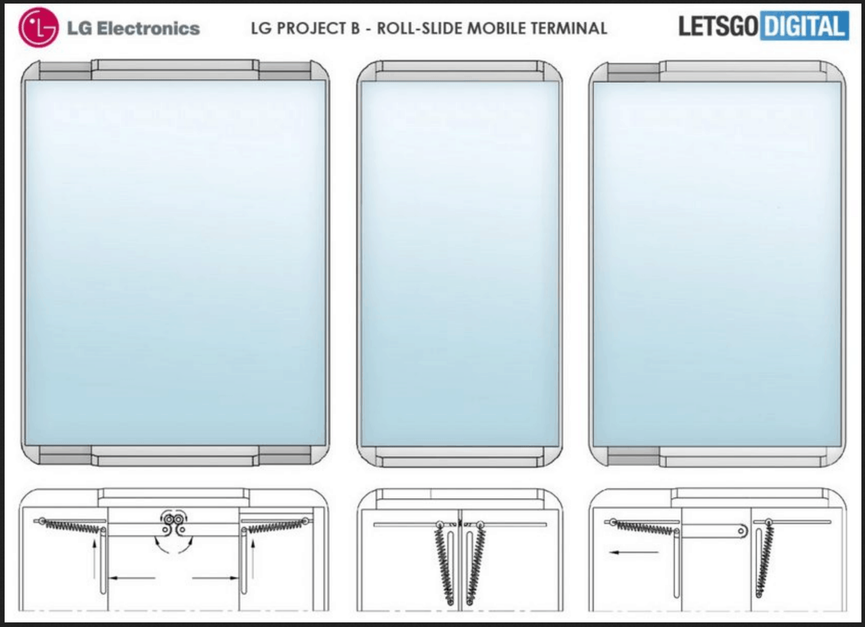 LG Rollable phablet patent