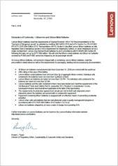 Material Safety Data Sheet to Lenovo Laptop