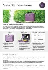 Flyer of the Ampha P20 Pollen Analyzer