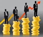 Grafico de salario ascendente