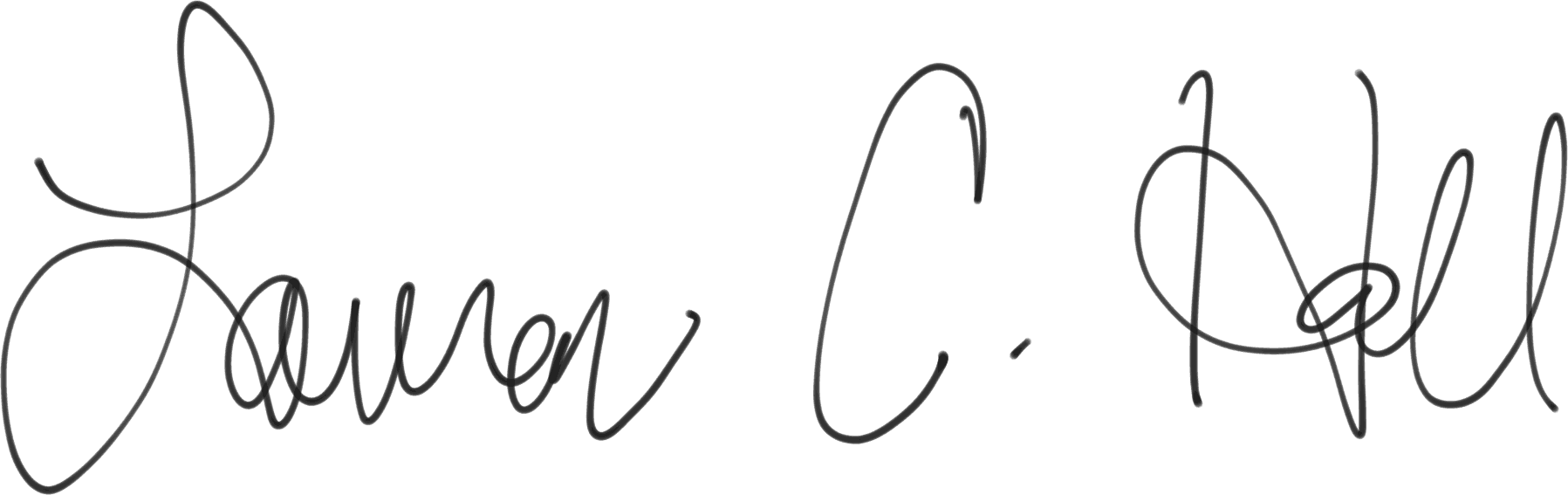 Lauren C. Hall Signature