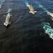 Navy craft in military exercise