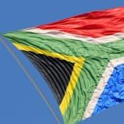 SA flag on flagpole