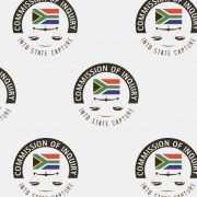 Banner with logos of the Zondo Commission