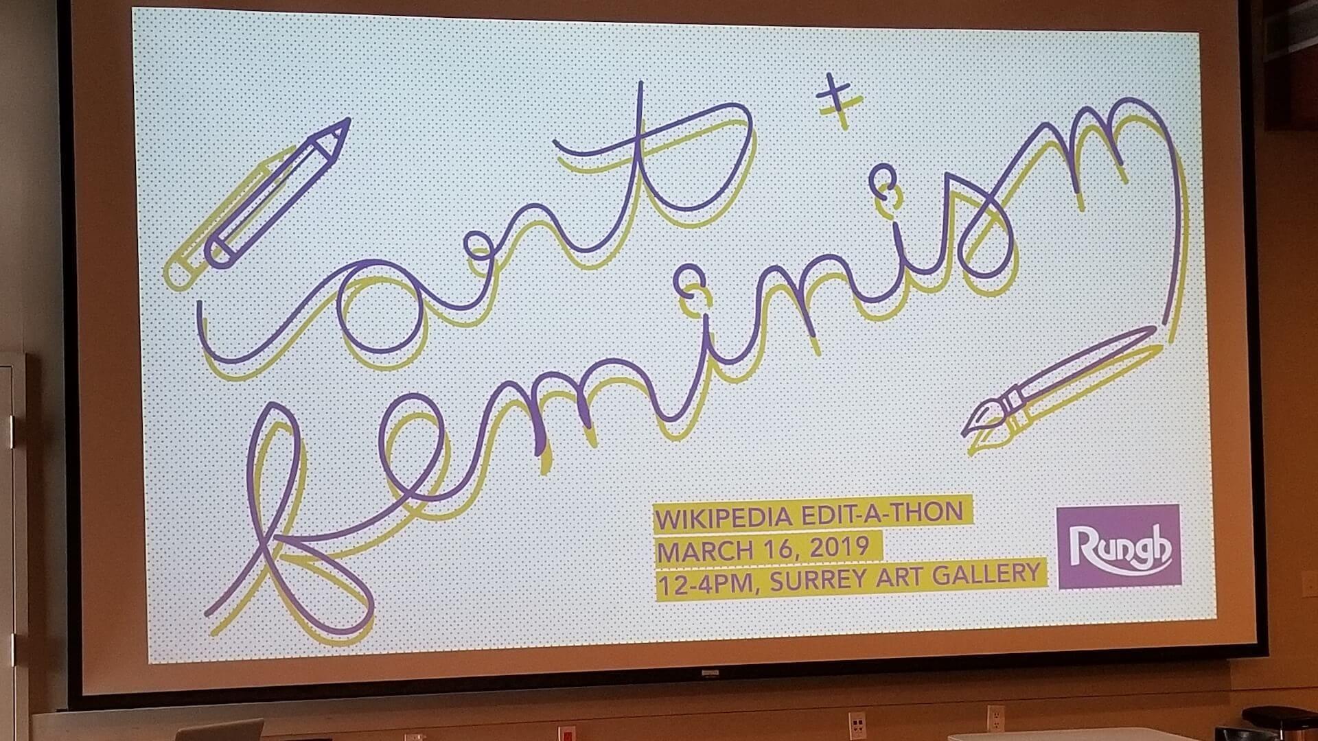 Art + Feminism Wikipedia Edit-a-thon - Surrey Art Gallery 2019 - Slide 8