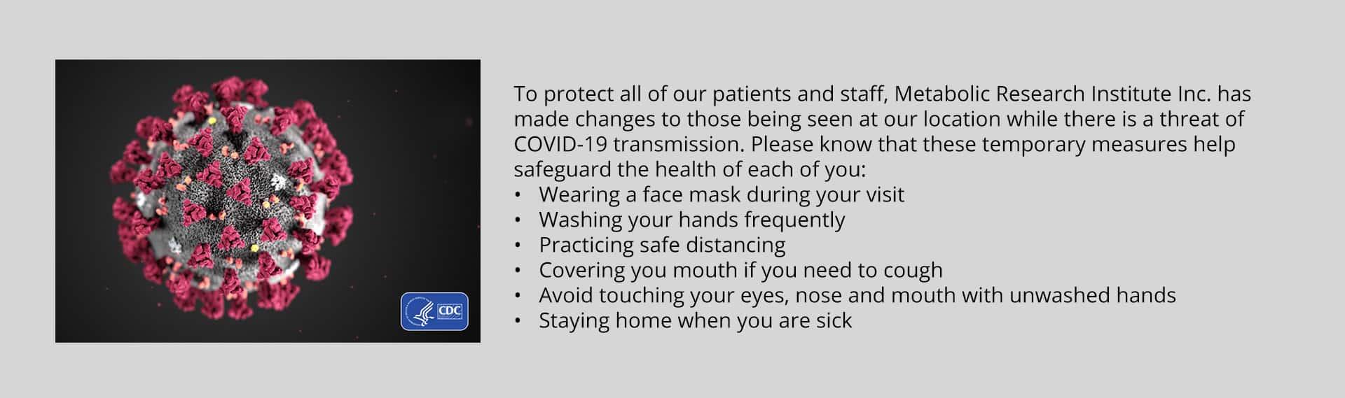 MRI COVID-19 Advisory statement for patients