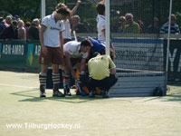 image: actie foto hockey wedstrijd Bloemendaal Tilburg