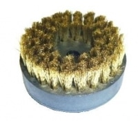 Grande brosse ronde en laiton