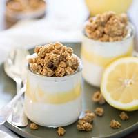 granola parfait with leftover lemon curd