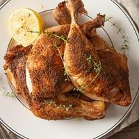crispy baked chicken quarters