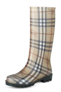 Burberry Haymarket Check Wellington Rain Boots