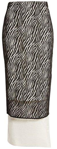 BOSS Vezra Lace Overlay Skirt | 40plusstyle.com