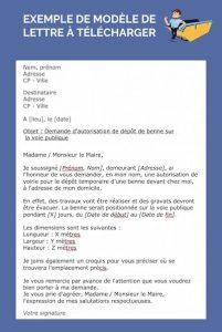lettre autorisation de stationnement benne Puget-sur-argens (83480)