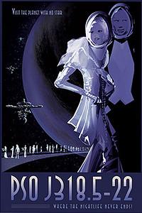 PSO J318.5-22 - NASA Space Age Travel Poster
