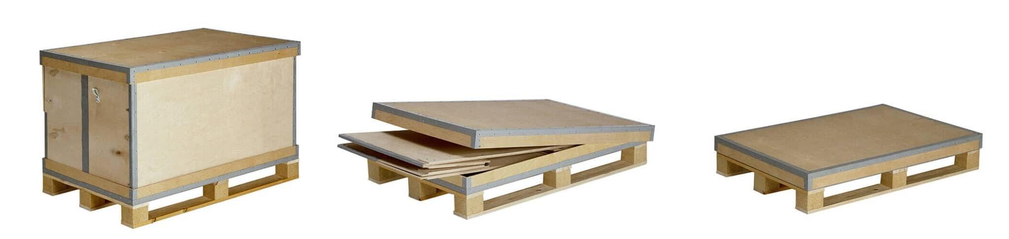 NO-NAIL BOXES propose des caisses spécialement conçues pour faire des navettes.