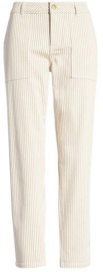 Caslon stripe twill pants | 40plusstyle.com