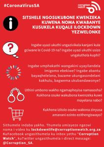 #LockdownLife isiZulu poster