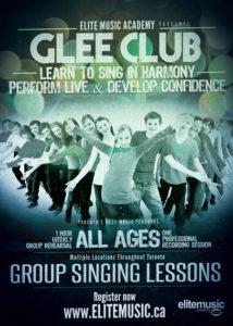 Glee Club Singing Lessons Toronto