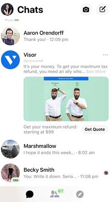facebook messenger ad size