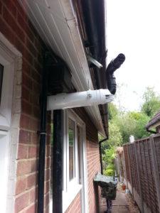 Correct flue for under eaves outlet