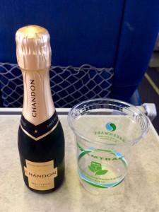 California sparkling wine on board the train