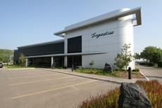 Tregaskiss headquarters shown from the southeast front of the building