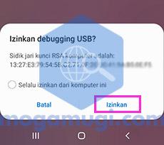 Izinkan debugging USB