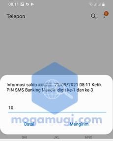 Masukan PIN SMS