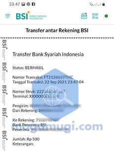 bukti transfer